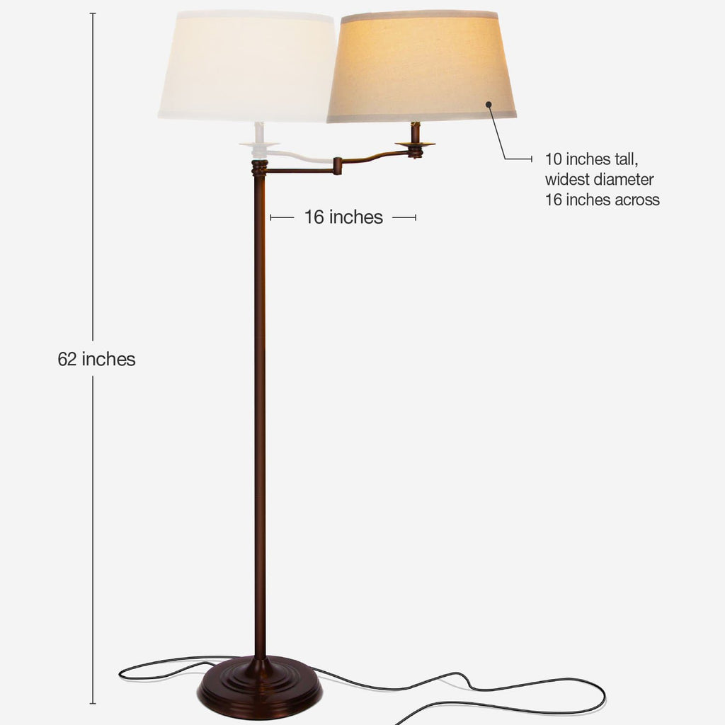 Caden Swing Arm Led Floor Lamp Classic Lamp With Extending Arm