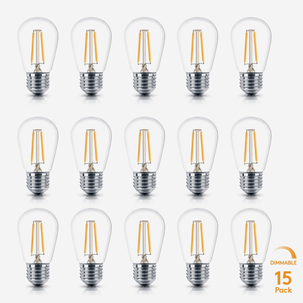 2 Watt Ambience Pro 15pk S14 Replacement For Outdoor String Lights