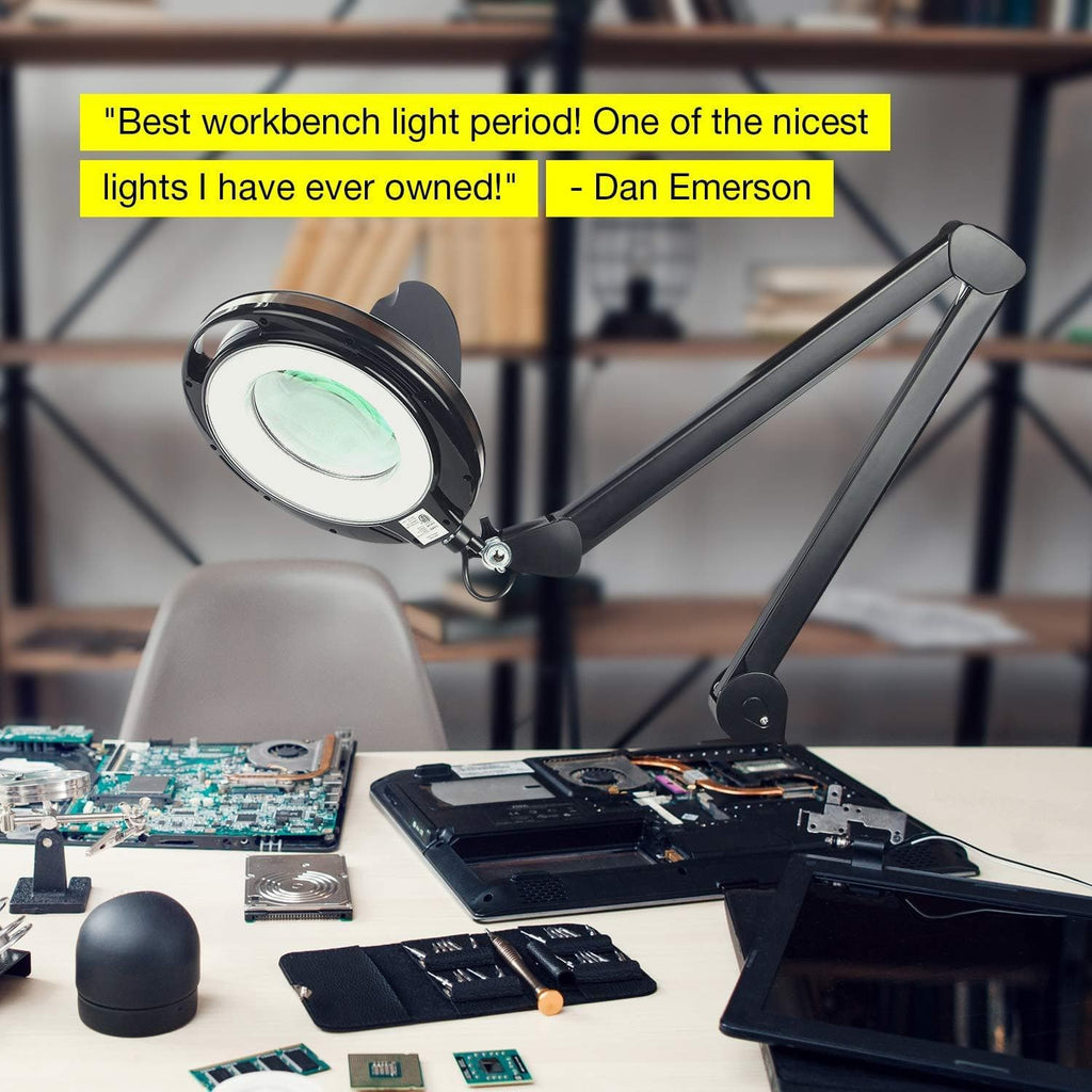 black LightView PRO LED Desk Lamp 5D