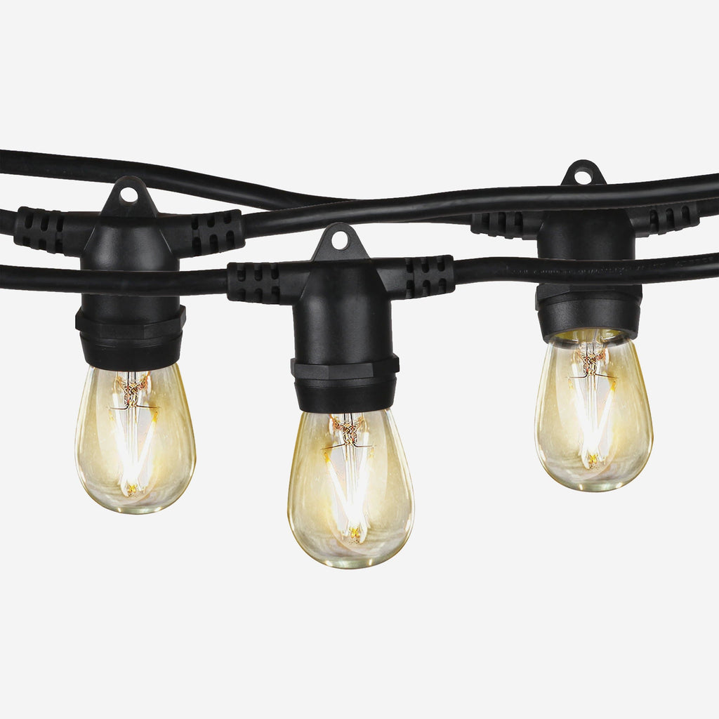 Newhouse Lighting 48 Foot Outdoor String Lights Led Bulbs: Ambience Pro Outdoor String Lights: LED Waterproof Edison