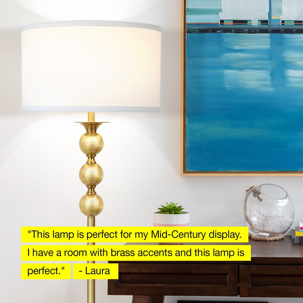 Riley - LED Floor Lamp, Reading Pole Light - Classic Drum Shade, Riley - LED Floor Lamp, Reading Pole Light - Classic Drum Shade,