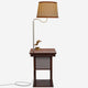 Havana Brown Madison Nightstand with LED Lamp Attached - Wireless Stealth Charging