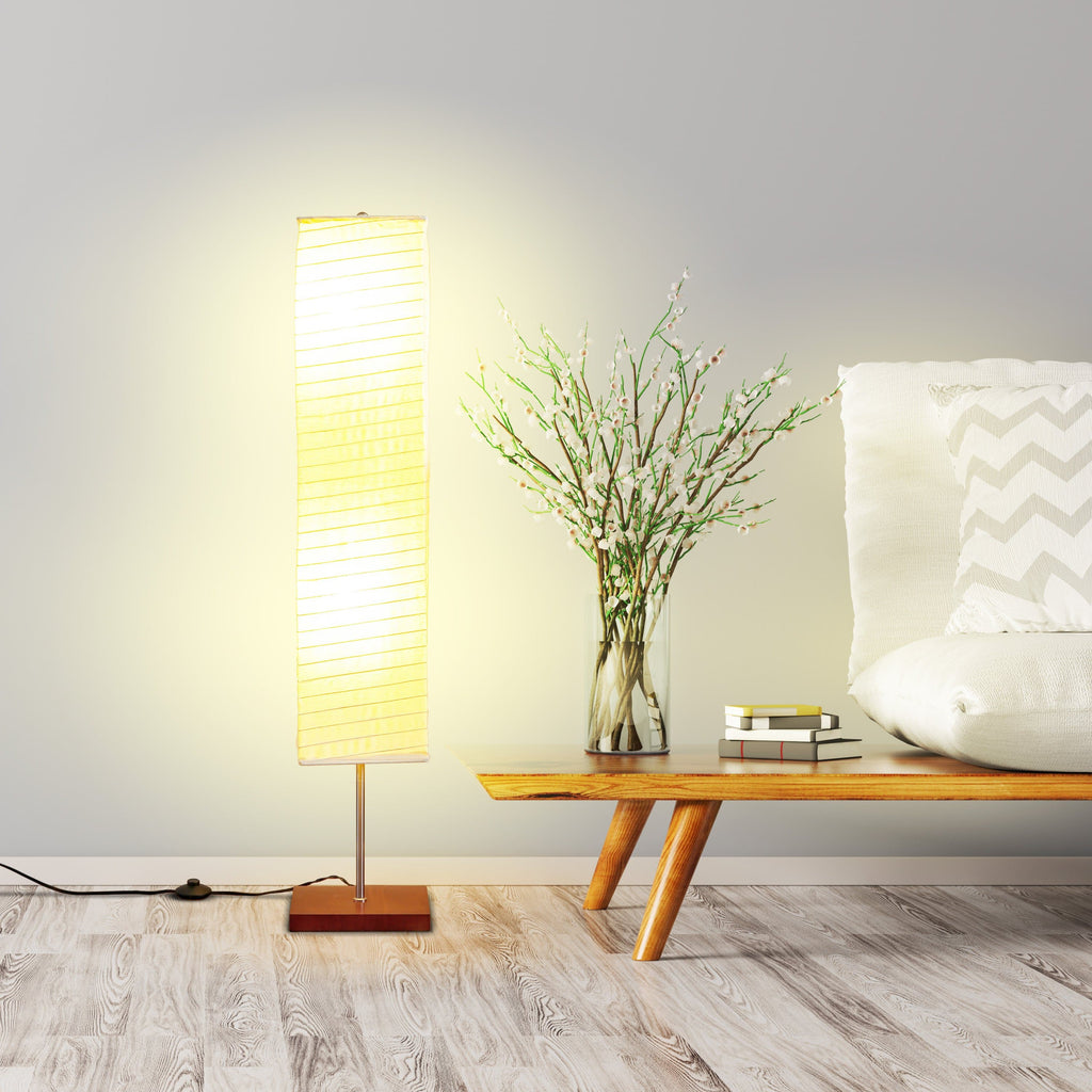 Havana Brown Tranquility- Modern LED Floor Lamp for Living Rooms – Mid-Century Lamp