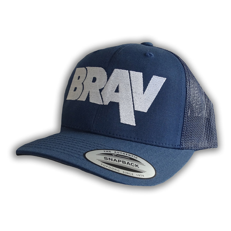 BRAV Retro Trucker Cap (Navy)