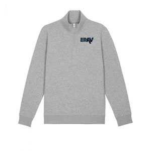 BRAV Quarter Zip Sweater (Grey)