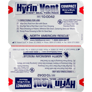 HyFin Compact Chest Seal - Twin Pack