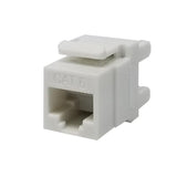Keystone Jack Cat6 White Network Ethernet 110 Punchdown 8P8C 180°