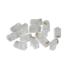 Rj45 8P8C Cat6 Modular Plug Ethernet Gold Plated Network Connector