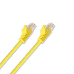 Cat-6 UTP Ethernet Network Cable RJ45 Lan Wire Yellow 1FT