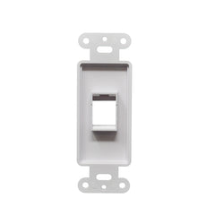 Decorator Style Keystone Jack 1 Port Modular Wall Insert Cover Plate White