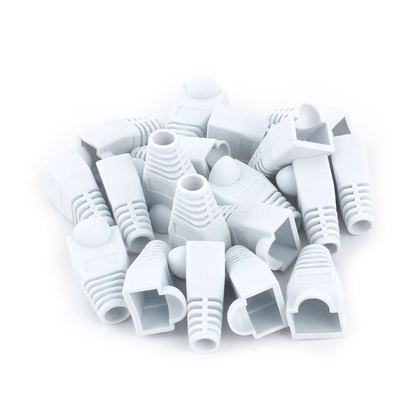 100 pcs Cat5e/Cat6/RJ45 Ethernet Cable Connector Strain Relief Boots White
