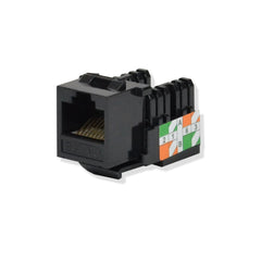 Cat5E Keystone Jack Punch Down Black