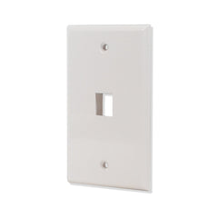 1 port Hole Keystone Jack Wall Plate Smooth Surface White