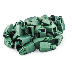 100 pcs Cat5e/Cat6/RJ45 Ethernet Cable Connector Strain Relief Boots Green