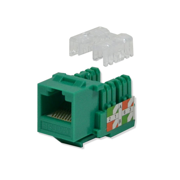 Keystone Jack Cat5e Green Network Ethernet 110 Punchdown 8P8C
