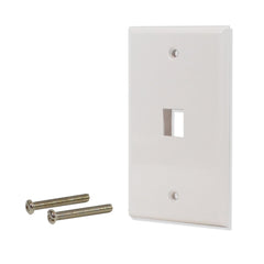 1 Port Hole Keystone Jack Wall Plate White