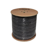 RG59 Coaxial Direct Burial Outdoor-Gel 20 AWG 95% Braid 3.0 Ghz 1000' Feet Black