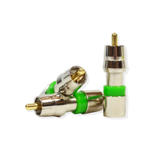Audio Video RCA Compression Connector for RG59 Coaxial Cable CCTV