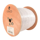 Cat6A UTP 1000ft Bulk Ethernet Network Cable 10G 23AWG Solid Wire Riser White