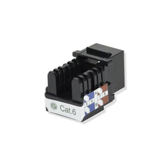 Cat6 Keystone Jack Punch Down Black