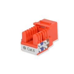 Keystone Jack Cat6 Orange Network Ethernet 110 Punchdown 8P8C