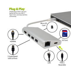 USB C HUB Multi-Function 8 in 1 Adapter