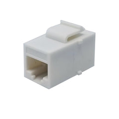 Keystone Coupler Inline Jack Cat5e or Cat6 RJ45 Female to Female White