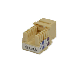 Keystone Jack Cat6 Ivory Network Ethernet 110 Punchdown 8P8C