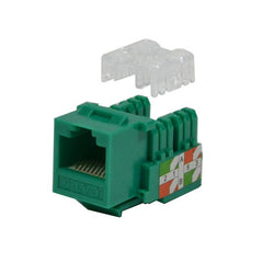 Keystone Jack Cat6 Green Network Ethernet 110 Punchdown 8P8C
