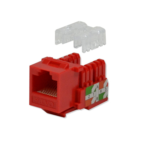 Cat6 Keystone Jack Punch Down Red