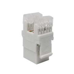 Keystone Jack Cat5e White Network Ethernet 110 Punchdown 8P8C 180°