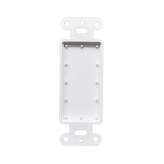 1 Gang Decorator Blank Wall Plate Insert White