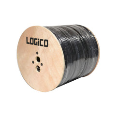 RG6 Coaxial Cable Dual Shield Outdoor Direct Burial Gel 1000ft 18AWG Black 3GHz