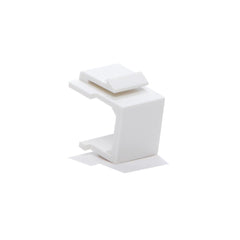 Snap-in Keystone Blank Insert for Wall Plate White