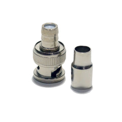 Crimp on BNC Male Connector Adapter for RG59 Coax Coaxial CCTV camera