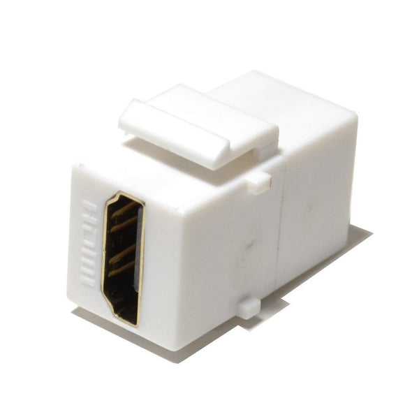HDMI Keystone Insert Jack Female to Female Adapter Coupler White