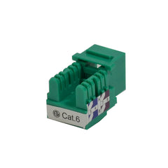 Cat6 Keystone Jack Punch Down Green