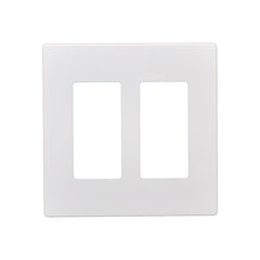2 Gang Screwless Snap On Decorator Wall Plate White