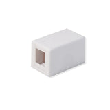 Surface Mount Box 1 Port Signle Hole Keystone Jack Cat5e/Cat6 White