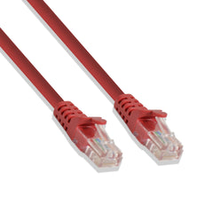 Cat-6 UTP Ethernet Network Cable RJ45 Lan Wire Red 2FT