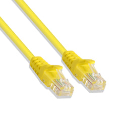 Cat-5e UTP Ethernet Network Cable RJ45 Lan Wire Yellow 2FT