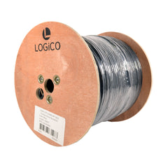 Cat6A UTP 1000FT Ethernet Cable Outdoor Direct Burial 10GS 23AWG Bare Copper