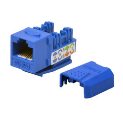 Cat5E Keystone Jack Punch Down Blue