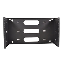 "19"" Two Space 6U Steel Wall Mount Hinged Swing Out Patch Panel Bracket 6"" Deep"