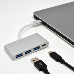 4 in 1 USB C Hub 3x Type USB 3.0 Ports and 1x Type C