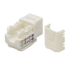 Keystone Jack Cat6 White Network Ethernet 110 Punchdown 8P8C