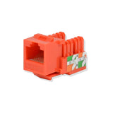 Cat6 Keystone Jack Punch Down Orange