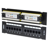 Cat6 Utp 12 Port Network Mini Patch Panel 110 With Surface Wall Mount Bracket