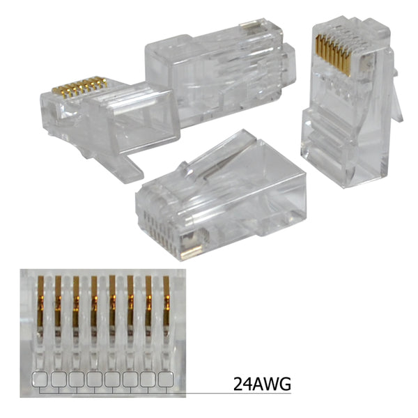 Rj45 8P8C Cat5E Modular Plug Ethernet Gold Plated Network Connector