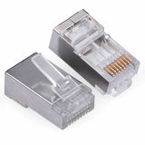 100 pcs RJ45 CAT6 Shielded w Load Bar Insert Modular LAN Network Connector Cable